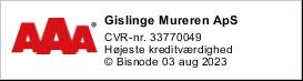 Murer Holbæk, Odsherred, Bisnodes kreditvurderingssystem logo